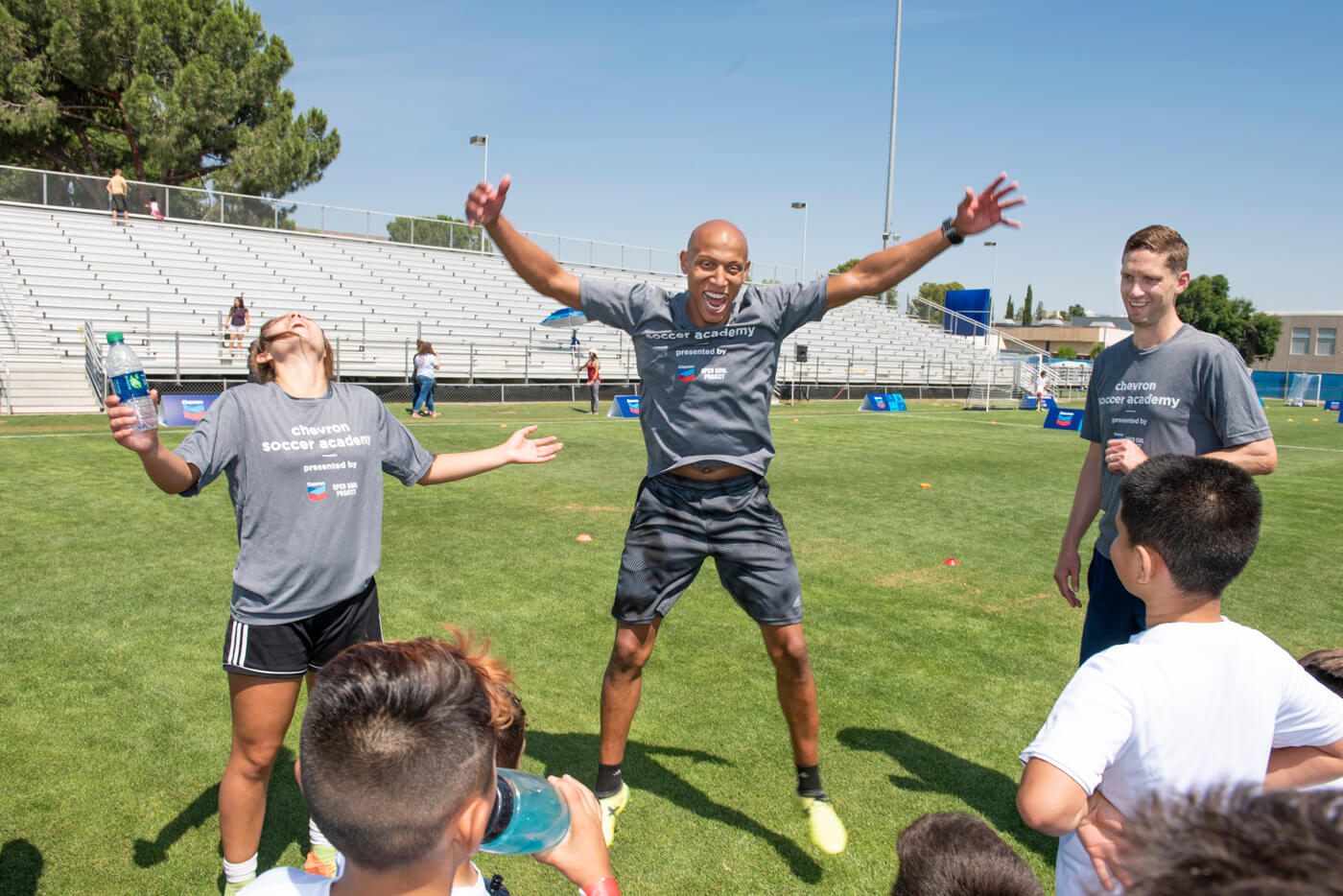 real moments at soccer camp event.