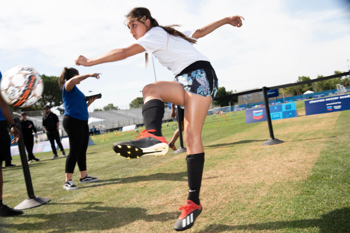 event photographer get the perfect moment at soccer camp.