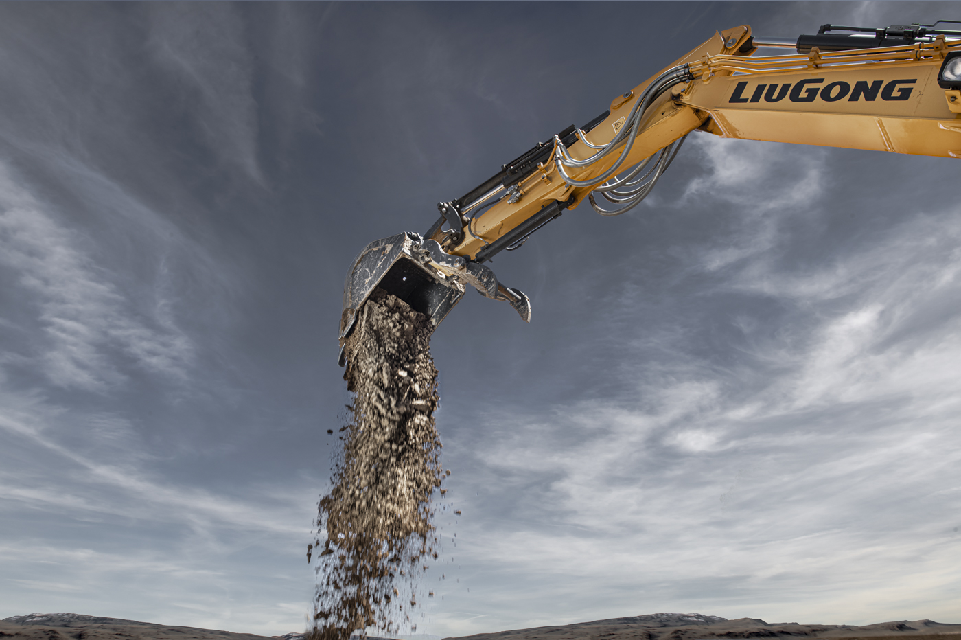 Industrial photography of construction machines